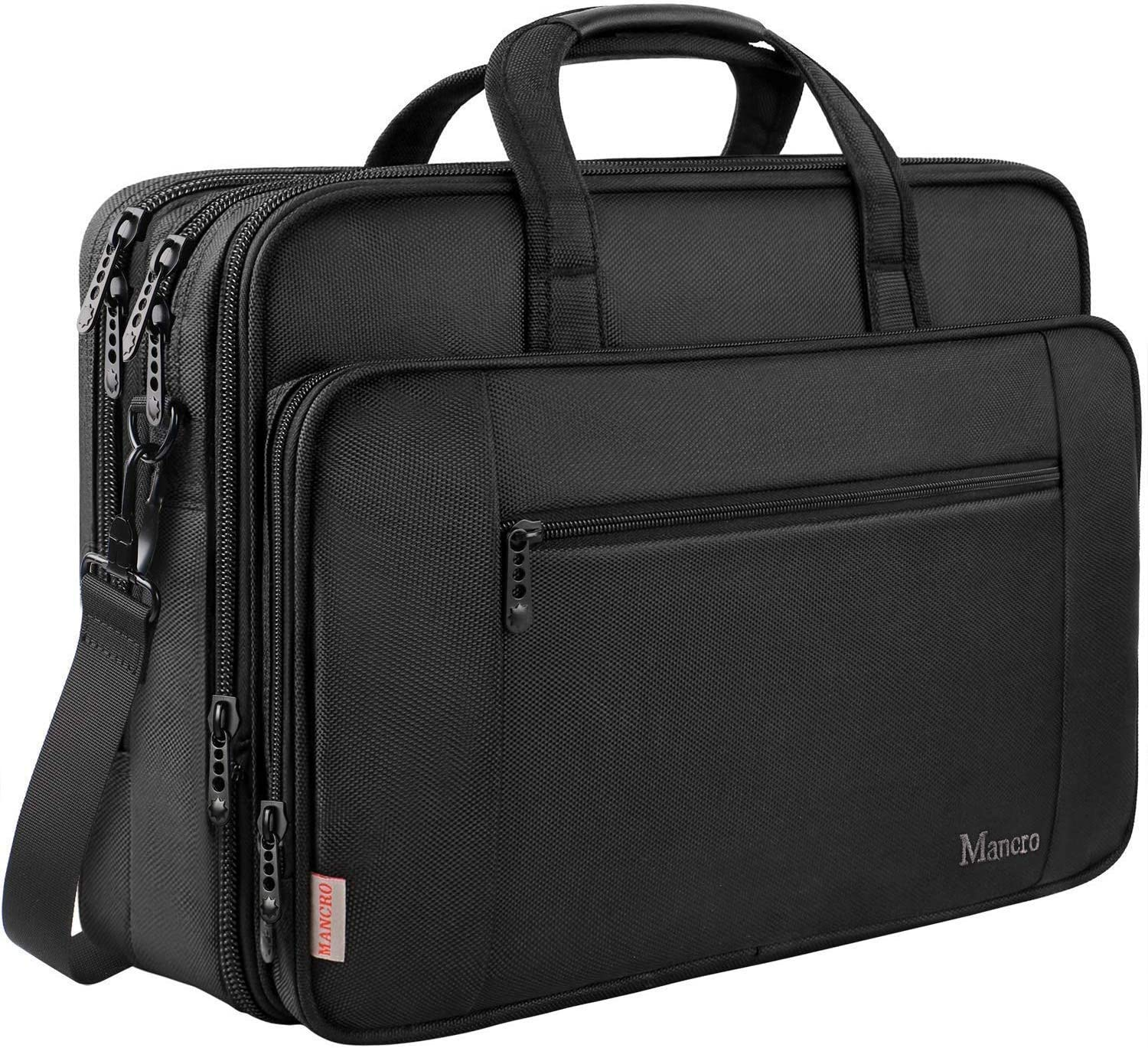 Expandable 17 Inch Laptop Travel Bag Briefcases Water Resistant with Organizer