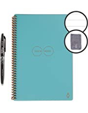 "$32 » Rocketbook Smart Reusable Notebook - Lined Eco-Friendly Notebook with 1 Pilot Frixion Pen & 1 Microfiber Cloth Included - Neptune Teal Cover, Executive Size (6"" x 8"