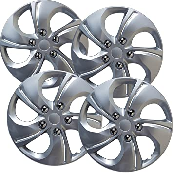 Hubcaps for Honda Civic (Pack of 4) Wheel Covers - 15 inch, 5 twisted spoke, Snap On, Silver: Amazon.co.uk: Car & Motorbike
