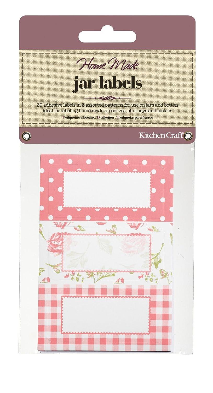 Kitchen Craft Home Made Canning Labels - Pink Kitchencraft KCHMJLAB12