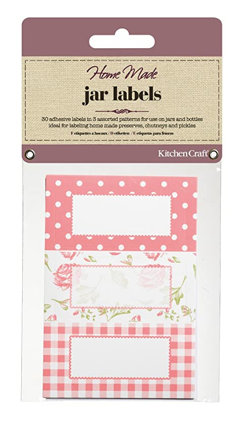 Kitchen Craft Set 30 Etiquetas para Tarros Merm.Azul