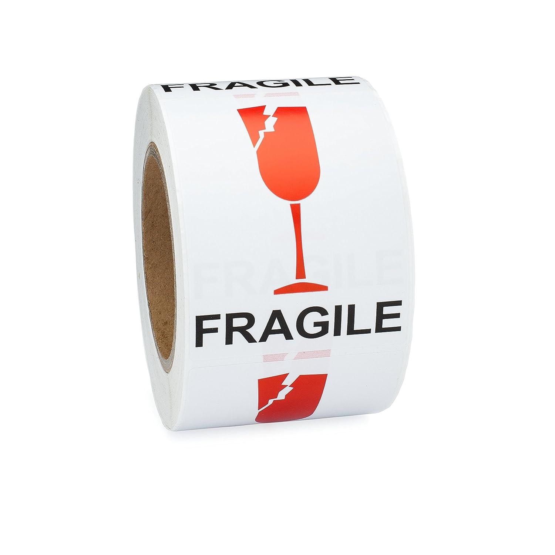 Saurus Brands Broken Wine Fragile International Shipping Labels, 3