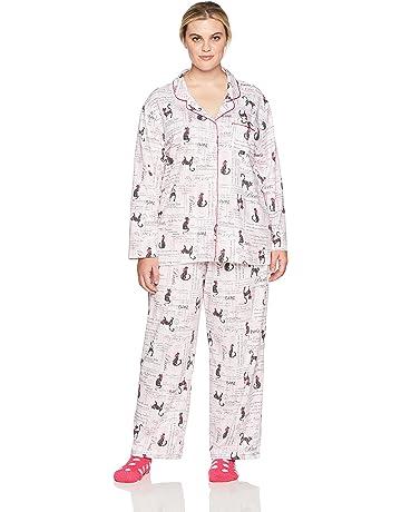 37ead82fc20609 Karen Neuburger Women s Pajama Long Sleeve Animal Print Girlfriend Pj Set