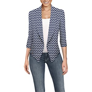8271db45e25 HyBrid   Company Womens Casual Work Office Open Front Blazer Jacket Made in  USA
