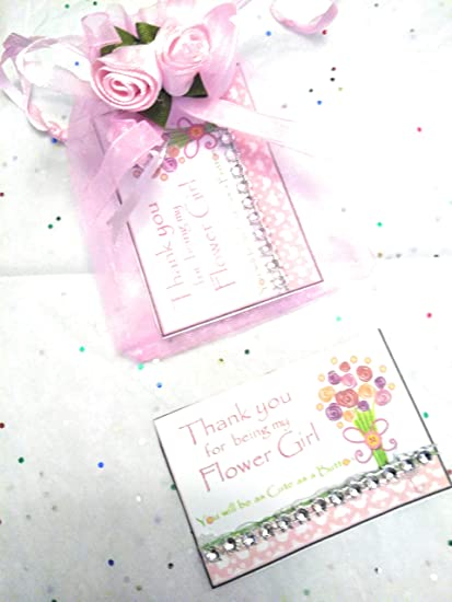 c23bf00b97d09 Amazon.com : WEDDING-Thank-you-for-being-my-Flower Girl cute-as-a-button-card  : Everything Else