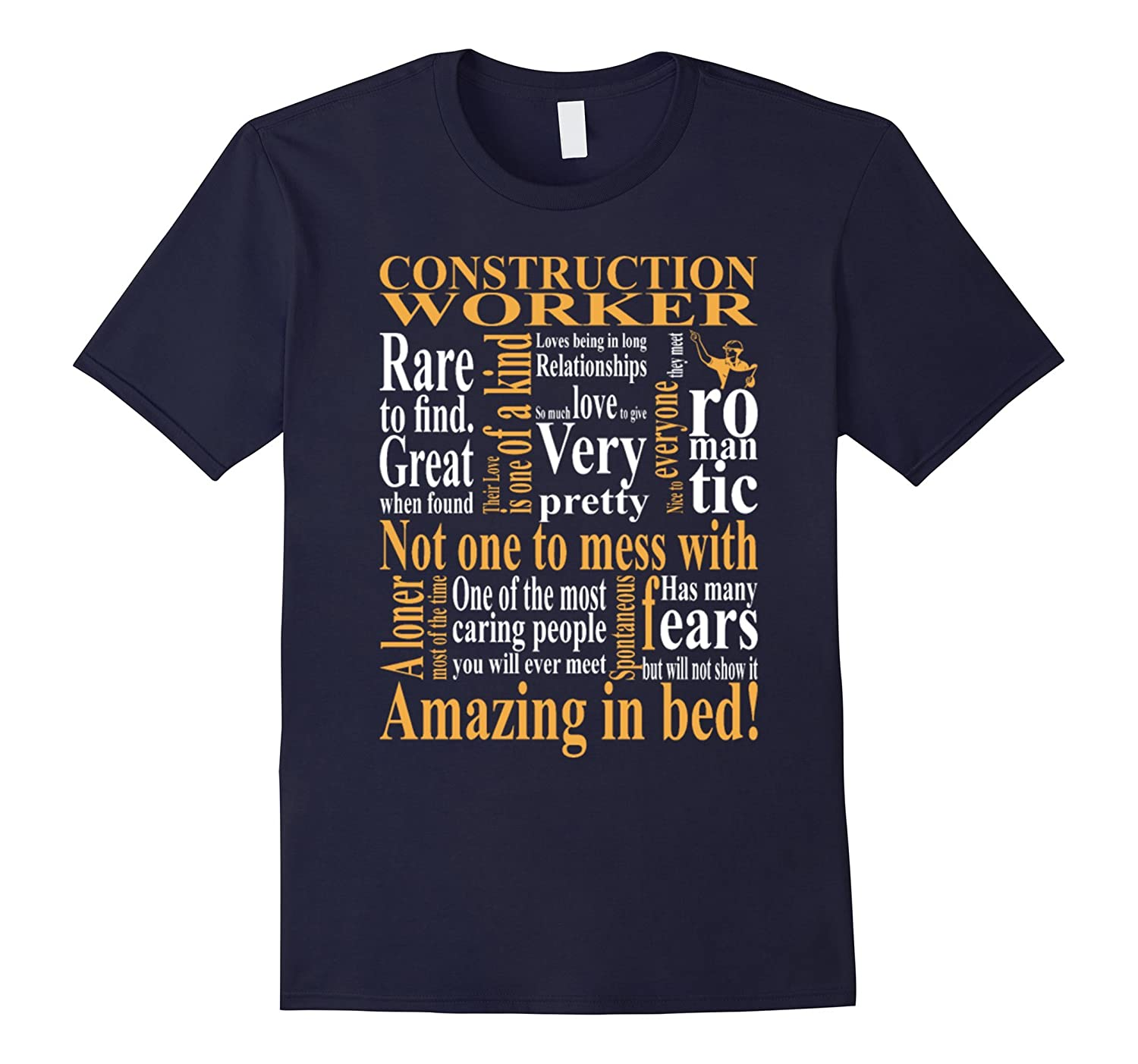 Amazing Worker: Construction Worker Amazing In Bed T Shirt-4LVS