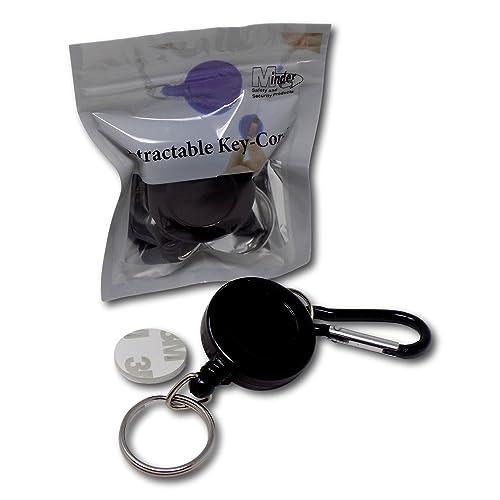 SAMS Heavy Duty Retractable Key Chain Ring Reel Clip