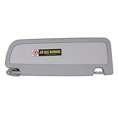 iFJF Car Front Left Driver Sun Visor Assembly (Light Gray): Automotive