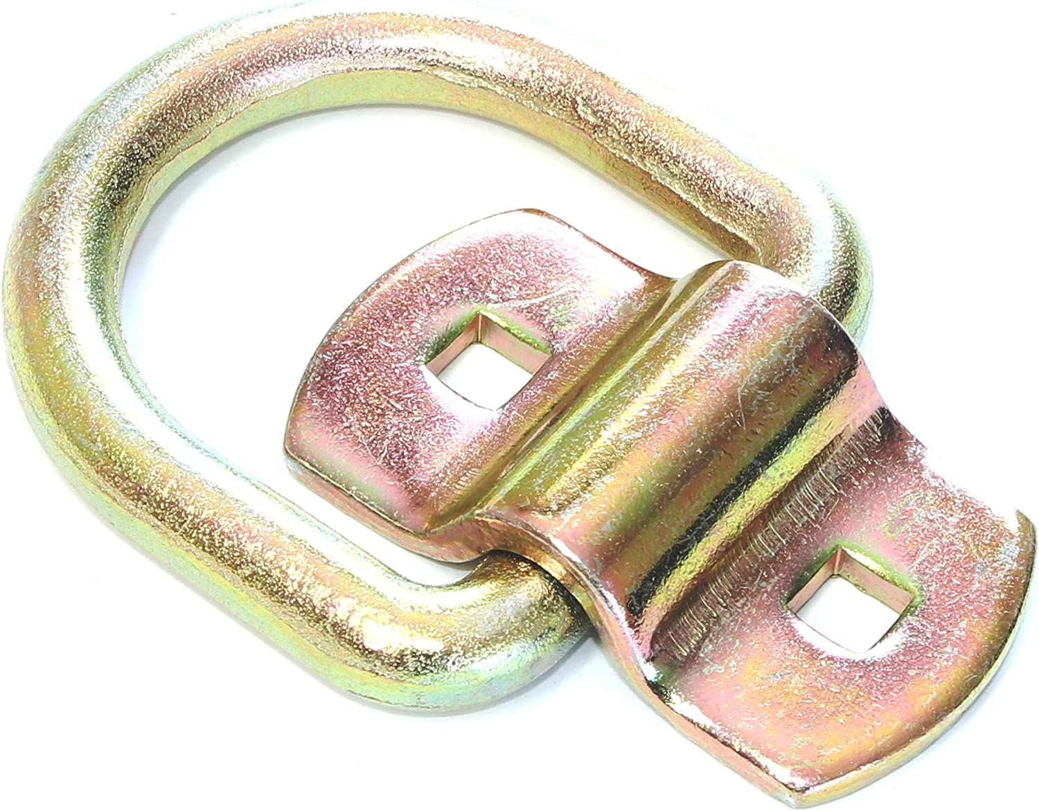 """Gripon (Pack of 4) 1/2"""" D Ring Tie-Down Anchors with Bolt-on Mounting Clip for Trailer and Truck"""