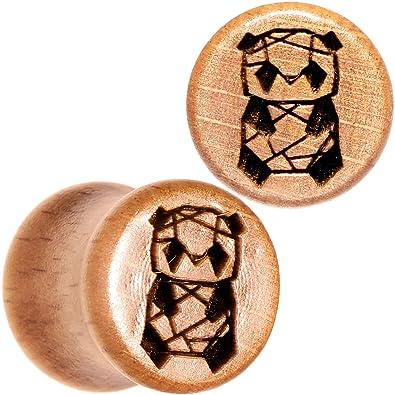 BodyCandy 2Pc Orgánico Beechwood 10mm Montura Pendientes Escala Conectar Geométrico Panda Dilatador Oreja Ancho Juego de 2 Calibre 00: Amazon.es: Joyería
