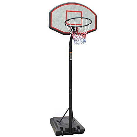 Portable Basketball System Adjustable Backboard Height Hoop Outdoor Sports Patio