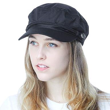 53137b8ac72 THE HAT DEPOT Black Horn Unisex Cotton Greek Fisherman s Sailor ...