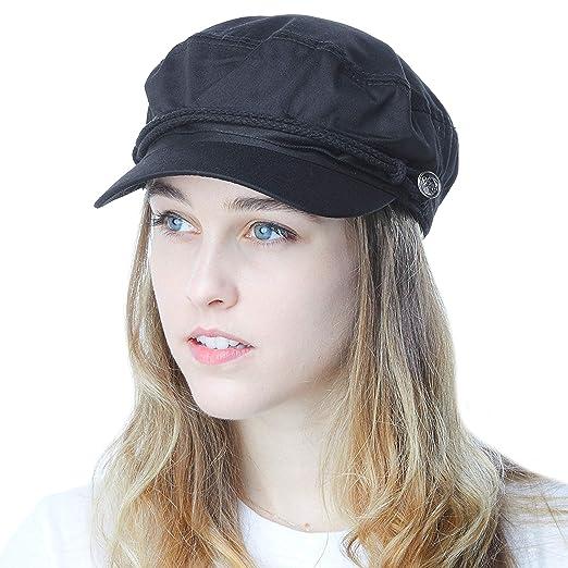 THE HAT DEPOT Black Horn Unisex Cotton Greek Fisherman s Sailor ... faee429f6e2f