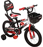 Outplayo™ Bikes M Star Bicycle for 3 to 5 Years Kids 14 Inch (Red White Black)