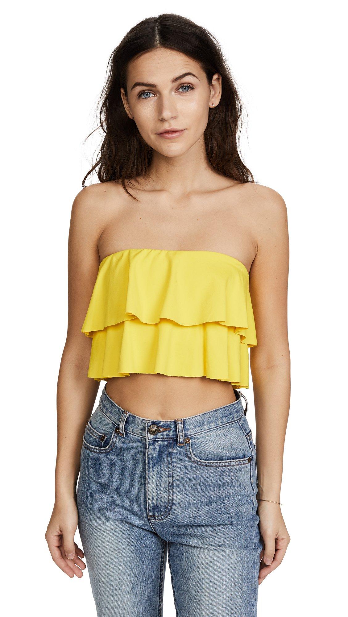 Susana Monaco Women's Flora Top, Yellow Tail, X-Small