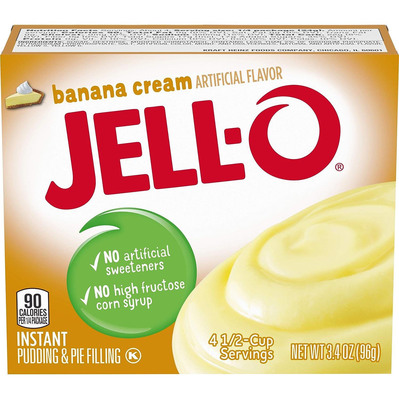 JELL-O Banana Cream Instant Pudding & Pie Filling Mix (3.4 oz Box)