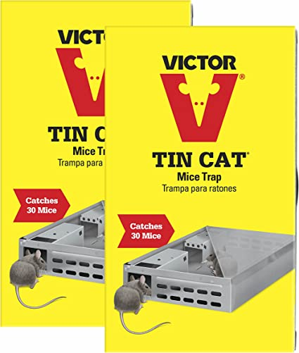 VICTOR Multi Catch TIN CAT LIVE Mouse Trap Reusable Pest Mice Release M310S NEW
