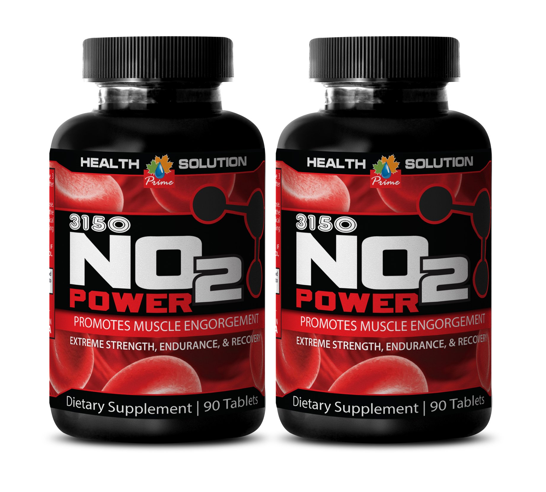Muscle gainer - PREMIUM NATURAL NITRIC OXIDE 3150MG - Nitric oxide dietary supplement - 2 Bottle (180 Capsules)