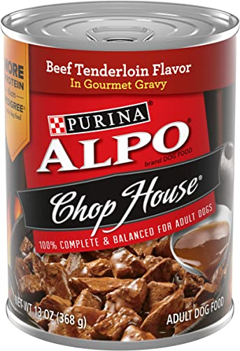 Purina ALPO Chop House in Gourmet Gravy Adult Wet Dog Food – 12 13 oz. Cans