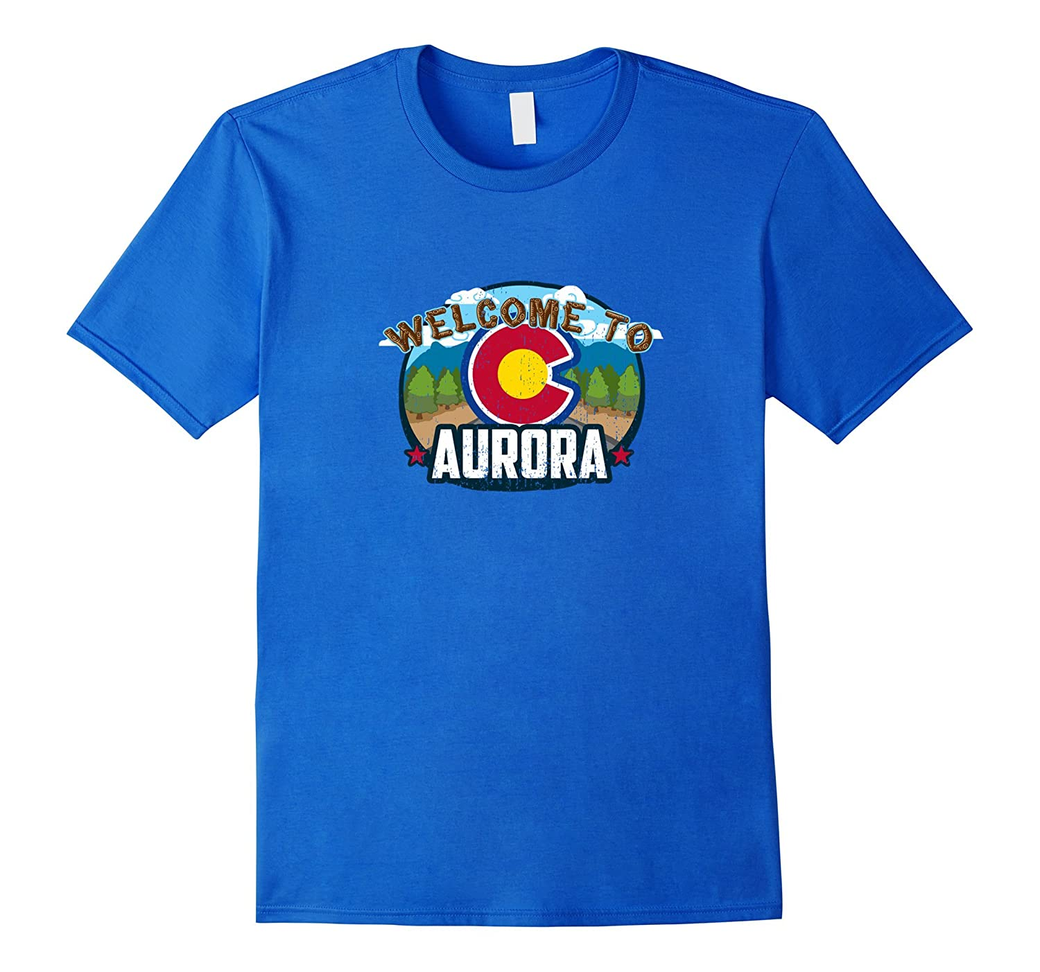 Welcome To Aurora Colorado  CO Rocky Mountains 420 T-shirt-CD
