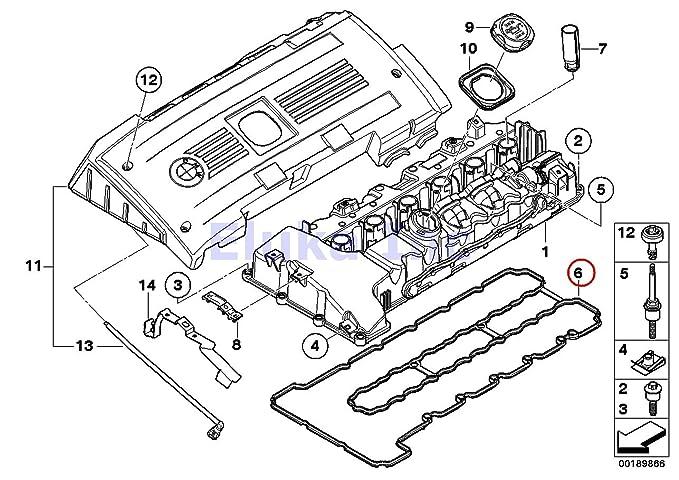 Amazon Com Bmw Engine Cylinder Head Valve Cover Gasket 535i 535xi