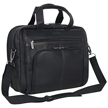 a048c2b5bcd0 Amazon.com | Kenneth Cole Reaction Colombian Leather Dual Compartment  Expandable 15.6