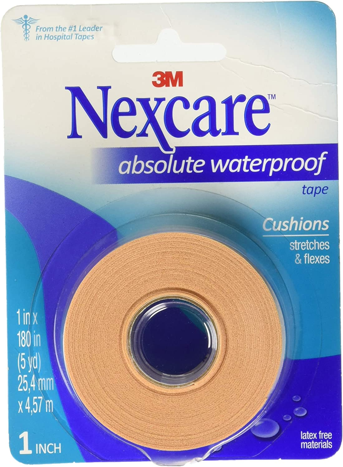 "3M -Nexcare Absolute 66775 First Aid Flexible Waterproof Tape 1"" x 180"""