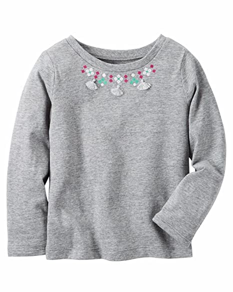 7dd007264cde Amazon.com  Carter s Girls  Embellished Necklace Tee