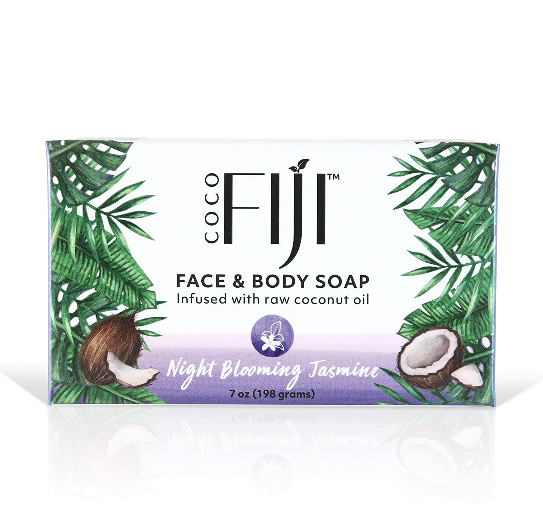 New Coco Fiji, Coconut Oil Infused Soap, Night Blooming Jasmine 7oz