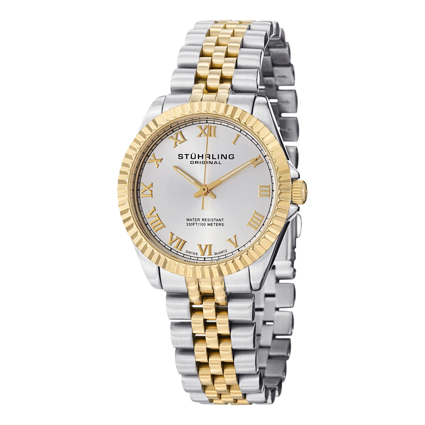 Stuhrling Original Women's 599L.04 Symphony Lady Coronet Analog Display Swiss Quartz Two Tone Watch