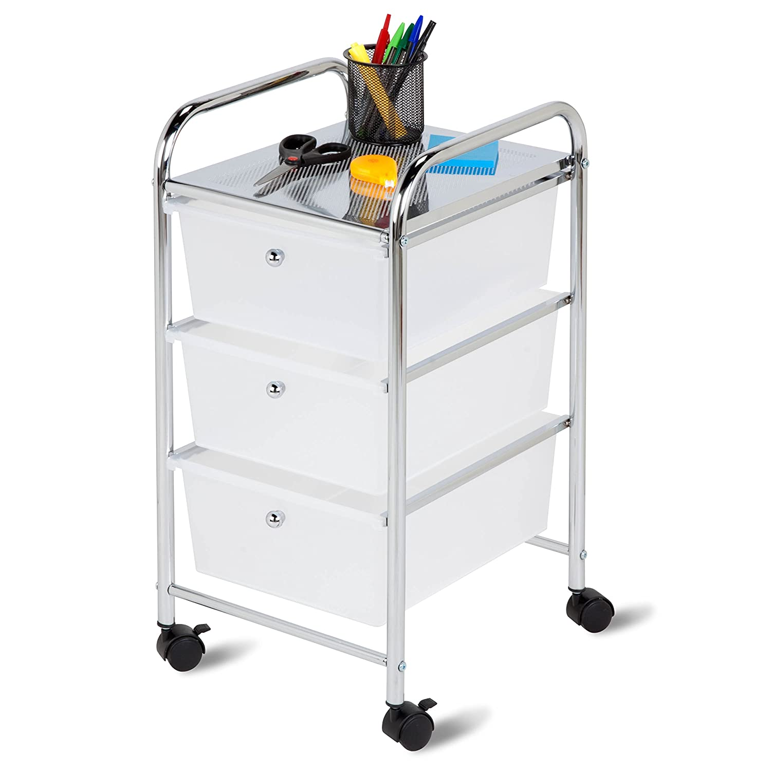 Honey-Can-Do CRT-02215 Rolling Cart with 3 Drawers