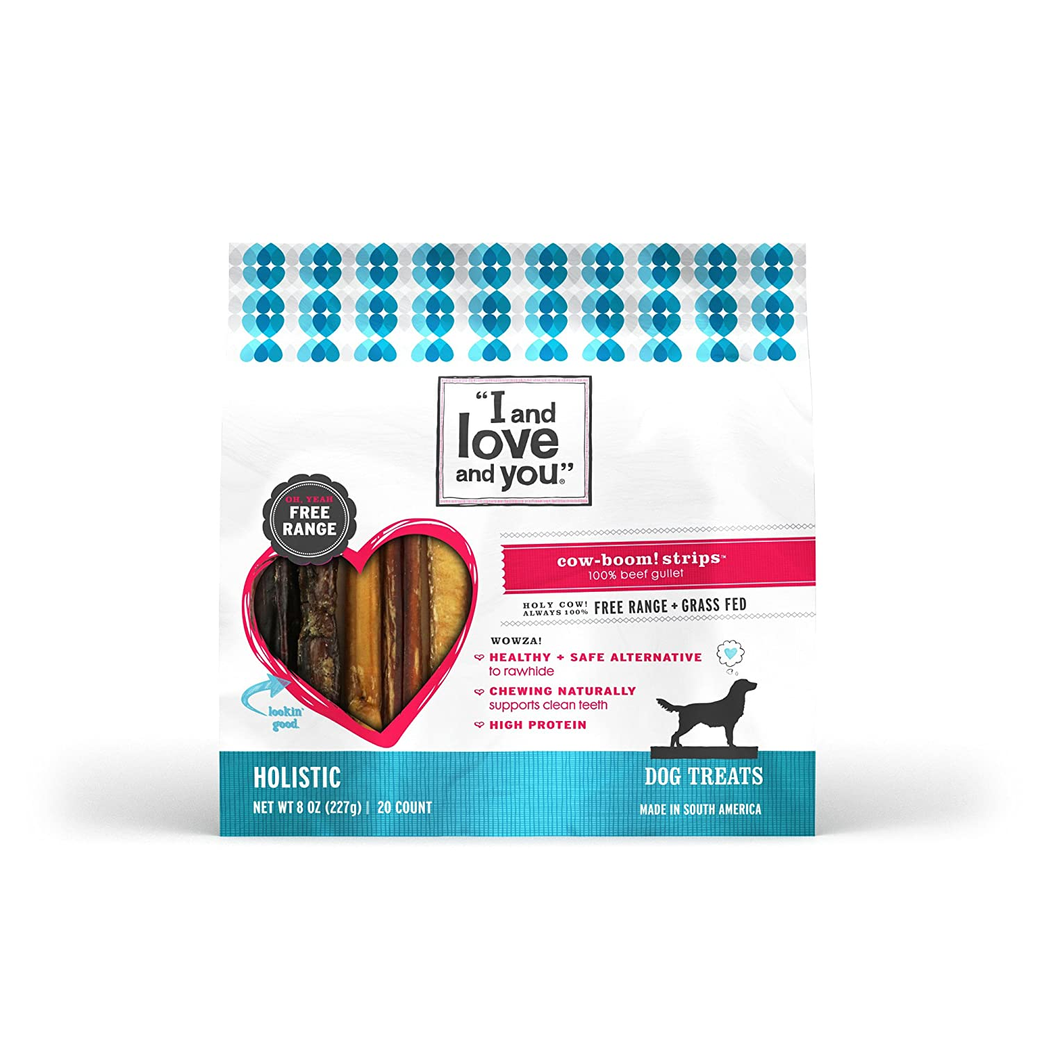 I and Love and You Cow Boom Beef Gullet Strips Grain Free Dog Chews
