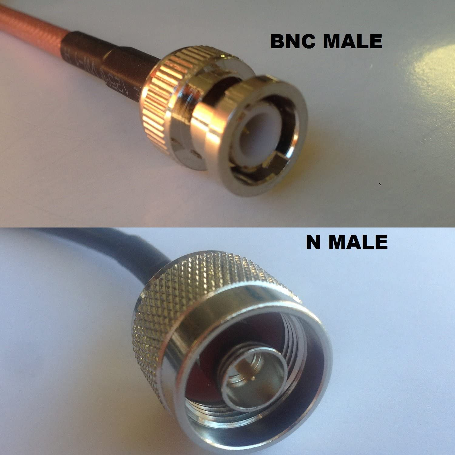 3 foot RG400 BNC MALE to N MALE Pigtail Jumper RF coaxial cable 50ohm Fast USA Shipping