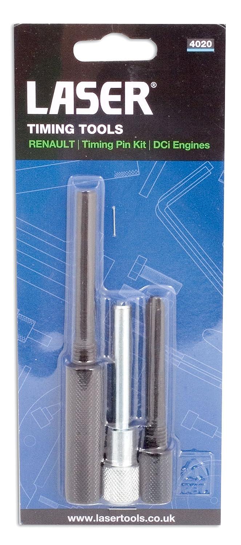 Laser 4020 - Pasadores de seguridad para bloqueo de cigüeñal y árbol de levas