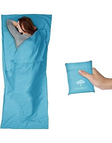 Bramble saco de dormir Liner – Camping dormir hoja – 100% poliéster microfibra suave &