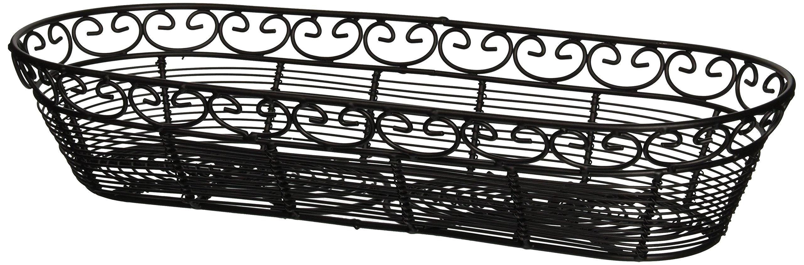 Tablecraft (BK21815) 15'' Oblong Mediterranean Series Basket