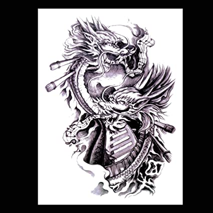 Tatuaje pegatinas dragón de doble cabeza pegatinas tatuaje dragón ...