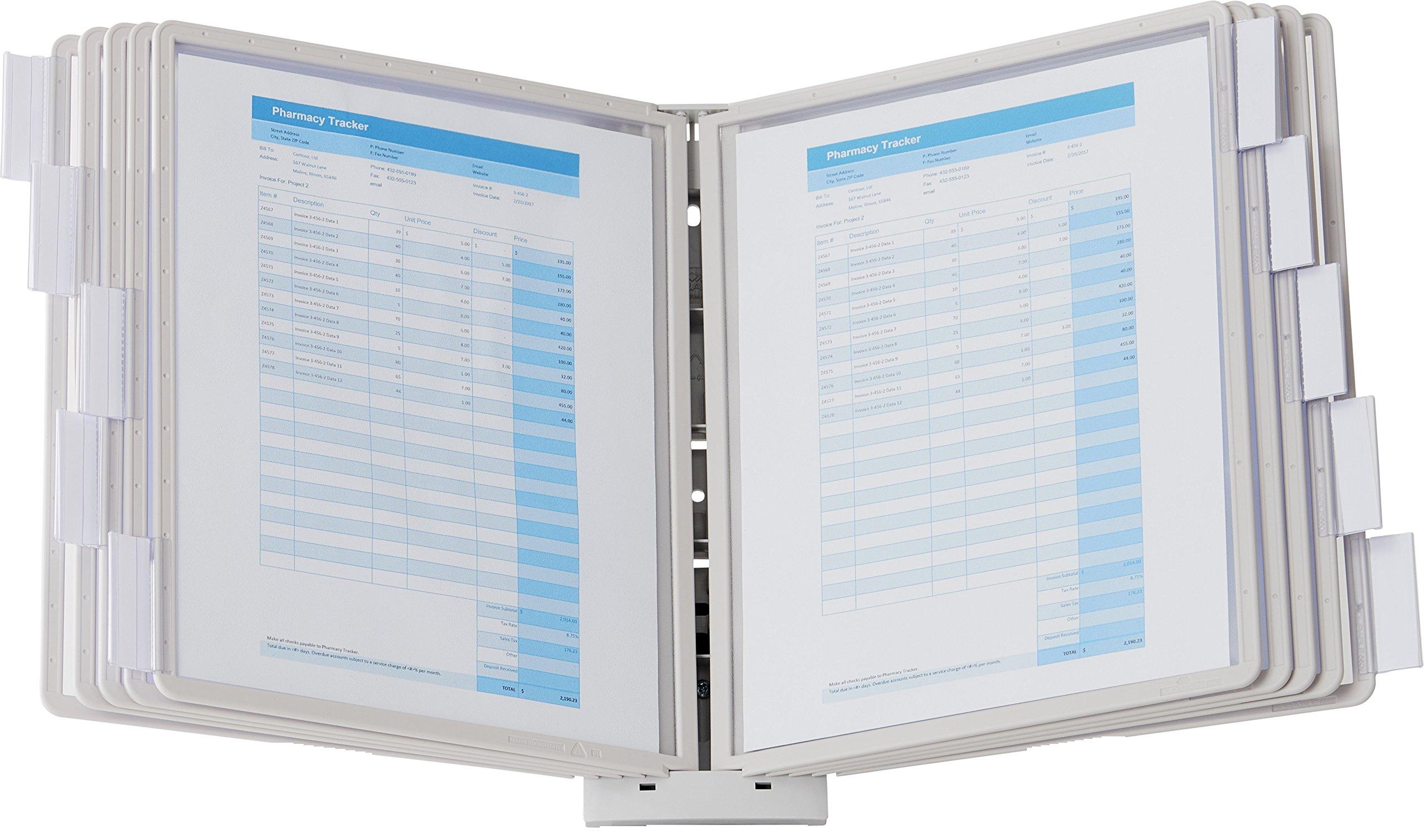 DURABLE Sherpa 10-Panel Wall Display System, Gray Borders (554110)