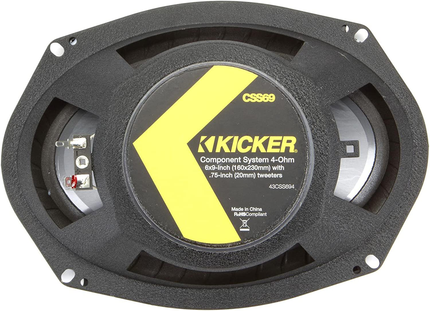 4-Ohm Kicker 43CSS694 CSS69 6x9-Inch Component System with .75-Inch tweeters