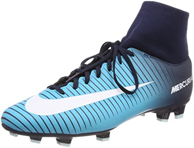 Nike Men's Mercurial Victory VI Dynamic Fit FG Size 12 Ice Obsidian /White/Gamma