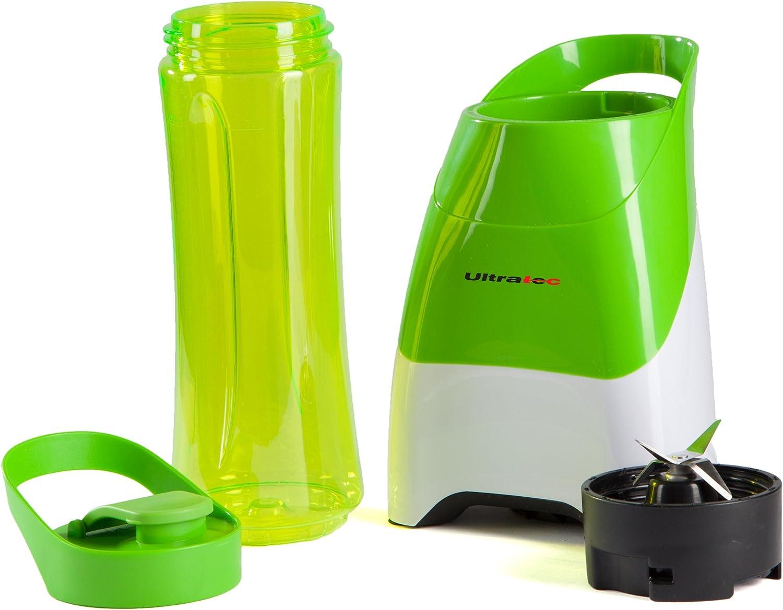 Ultratec-Küche Americana Blender to Go. Batidora de pie 2 en 1. Recipiente de 0.6 l. Prepare Bebidas fácil y rápidamente y llévelas consigo, Verde/Blanco, 331400000078: Amazon.es: Hogar