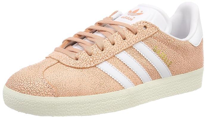 adidas Damen Gazelle Sneaker Orange (Clear Orange) mit weißen Streifen