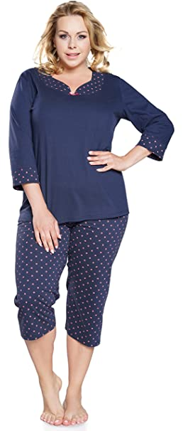 Italian Fashion IF Damen Schlafanzug für Mollige IF180028 (Melange, M)   Amazon.de  Bekleidung f8c5e92e3f