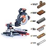 Evolution Power Tools R255SMSL Sierra ingletadora multimaterial compuesta deslizante de 10 pulgadas