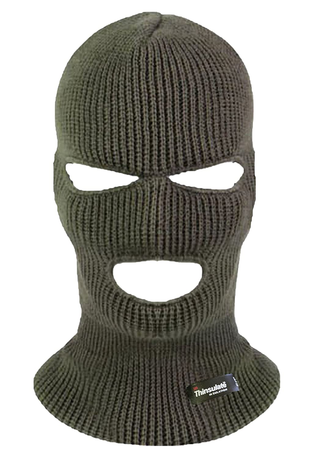 Highlander 3 Hole Thinsulate Balaclava HAT153-BK