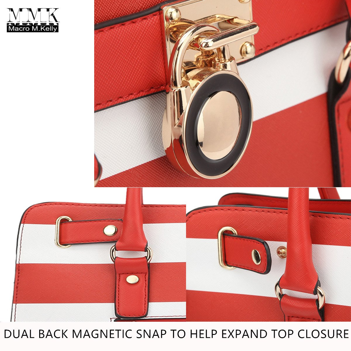 f73626c0759f MMK collection Women Fashion Matching Satchel   Tote handbags with walle ( 6417 )t~Designer ...