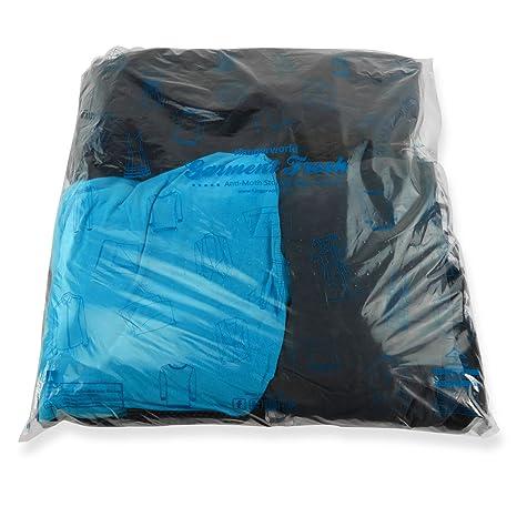 Hangerworld 10 Bolsas Plástico 59x61cm para Guardar Ropa Comercios Protección Antipolvo Transparente