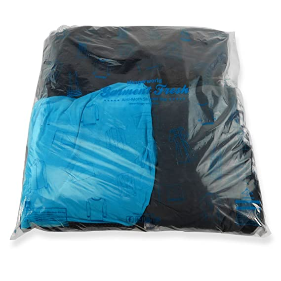 HANGERWORLD 20 Clear Large 23.2 x 24 Inch Strong Polythene Clothes Bedding Storage Bags Breathable and Moth Proof
