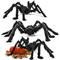 THE TWIDDLERS 3 grote realistische spinnen, 75 cm - Halloween partydecoratie