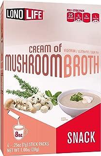 product image for Lonolife Cream of Mushroom Broth Snack, Stick Packs, 24 Count